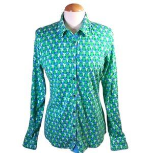 Boden heart print button down shirt